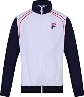 Fila Men's Vaughn Piped Track Jacket, White