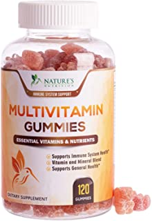 Adult Multivitamin Gummies Extra Strength Immune Support with Zinc, Vitamins D3 and C - Natural...