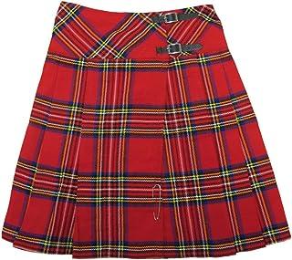 "Tartanista -Kilt Lungo Royal Stewart Tartan/Plaid 58,4cm (23"")-Rosso"