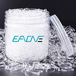 Best EAONE 2500 Pieces Clear Hair Elastics Hair Bands Clear Rubber Bands with Free Box for Braiding and Ponytail Review