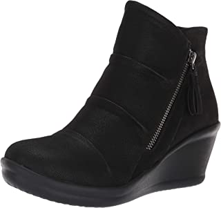 Skechers Women's Rumblers-Ruched Vamp Bootie with Tassel Ankle Boot