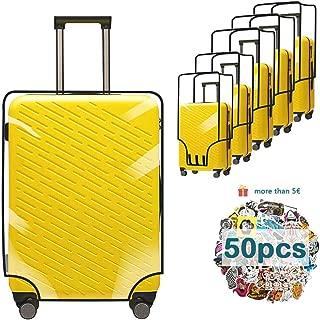 Funda para maleta, funda protectora para maleta, funda para maleta de viaje, funda para maleta de PVC transparente a prueba de rayones, reutilizable, resistente al agua y al polvo (transparente, 20 pulgadas)