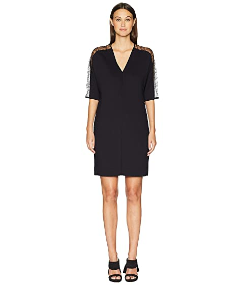 ESCADA Dalacenas Lace Inset Short Sleeve Dress