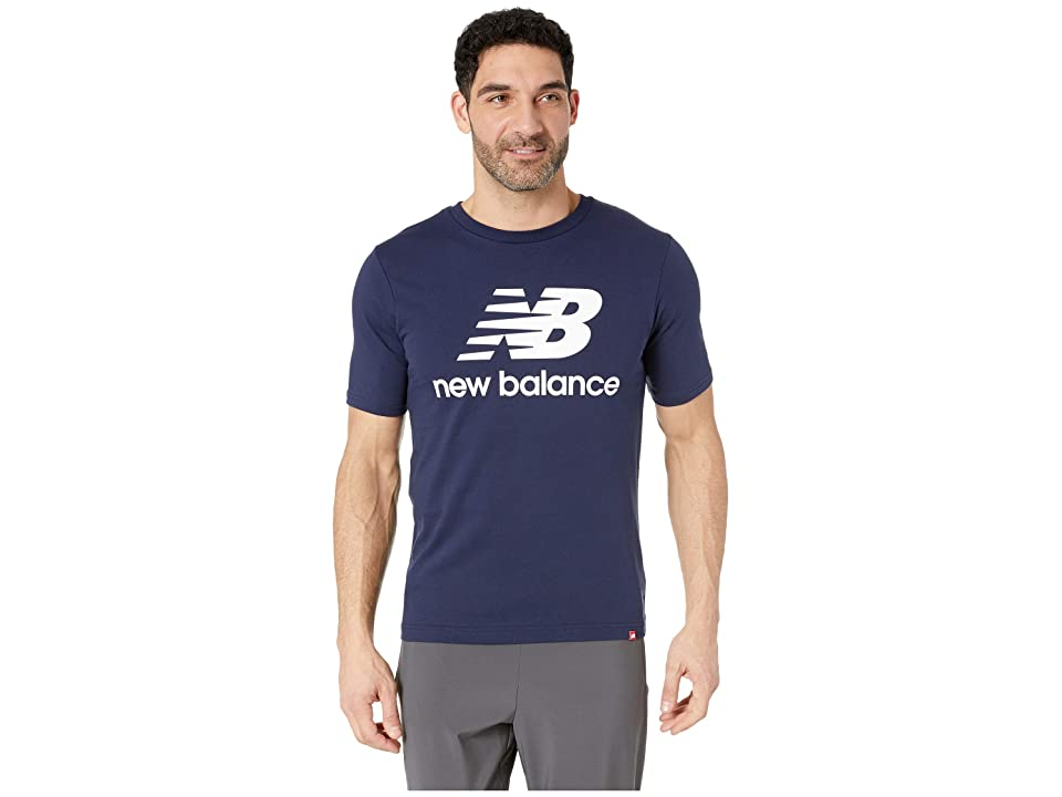 New Balance Essentials Stacked Logo Tee (Pigment 2) Men