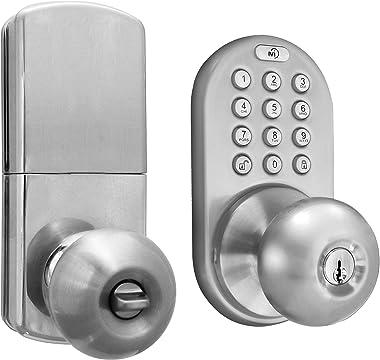 MiLocks DKK-02SN Indoor Electronic Touchpad Keyless Entry Door Lock, Satin Nickel
