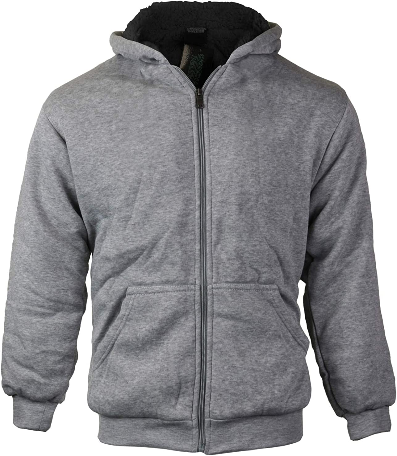 vkwear Boys Kids Athletic Soft Sherpa Zip Up Lined Wholesale Mesa Mall Hoodie Fleece