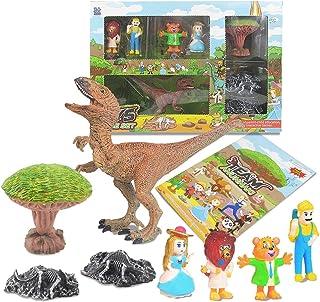 Dorakitten Kids Dinosaur Toy Set Funny Dinosaur Scene Toys Dinosaur Fossil Toy for Children Party Birthday Gift Favors