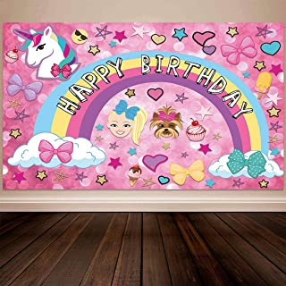 Allenjoy 5x3ft Colorful Cartoon Backdrop for Sweet 16 Happy 18 Dream Crazy Big Theme Bokeh Photography Background Birthday Party Banner Unicorn Puppy Girl Glitter Rainbow Baby Shower Photo Booth Decor