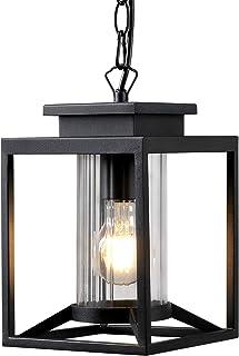 Osimir Outdoor Pendant Light, 1-Light Modern Outdoor Hanging Lantern with Adjustable Chain, Exterior Hanging Porch Light i...