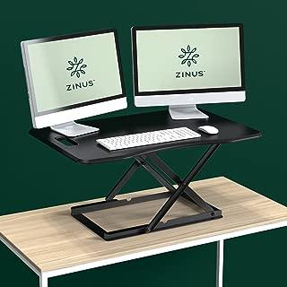 Zinus Penny Smart Adjust Standing Desk / Adjustable Height Desktop Workstation / 36
