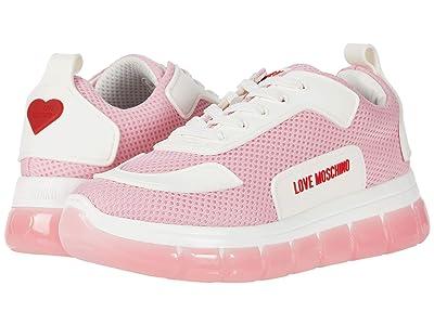 LOVE Moschino Mesh Sneaker (Pink) Women