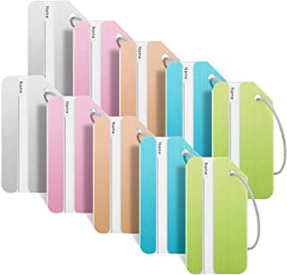 Luggage Tags for Suitcases, Bag Tag Travel ID Labels Tag for Baggage, 10 Pack, 5 Color