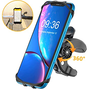 Bovon Bike Phone Mount, (Bolt Design) Sturdy Universal Motorcycle Bicycle Phone Holder Stand Compatible with iPhone Se/ 11 Pro Max/XS Max/XR/X/XS/8/8 Plus/7/7 Plus, Samsung S10/S10 Plus