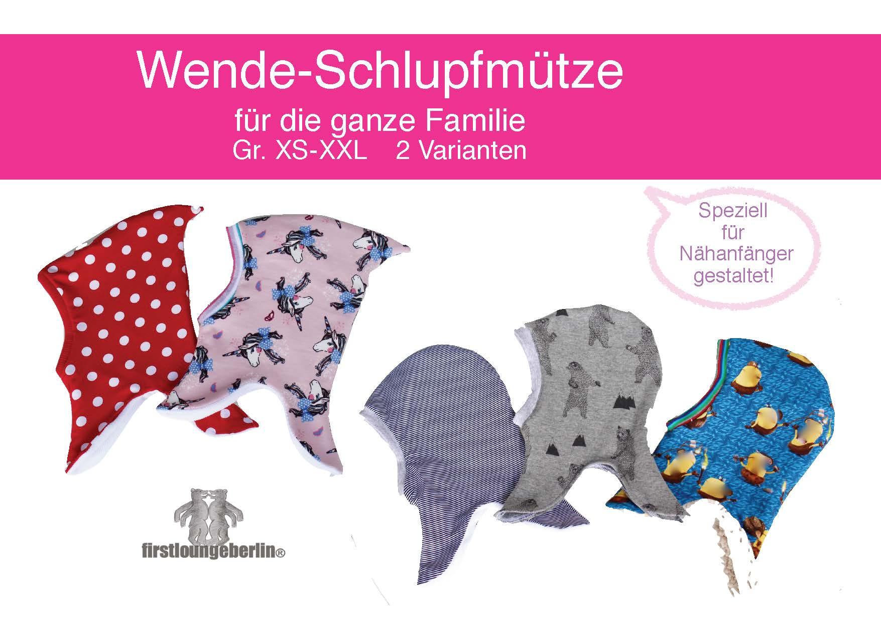 Wende-Schlupfmütze Schnitt und Nähanleitung für die ganze Familie in 6 Größen [Download]