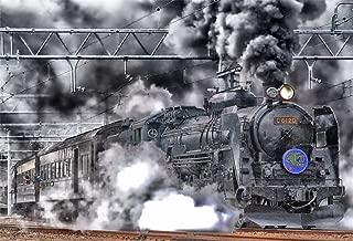 AOFOTO 8x6ft Old Fashioned Steam Locomotive Backdrops Vintage Train Depot Photo Shoot Background Retro Engine Outdoor Railway Photography Studio Props Adult Boy Man Children Portrait Vinyl Wallpaper