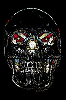 O Death Where is Thy Sting?: Christian Bible Quote Notebook/Journal with Skull and Stained Glass Jesus