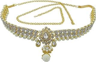 Pcm Kamar Bandh Gold Plated Kundan Belly Chain Kamarbandh For Saree Women Wedding
