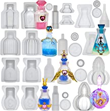 Small Bottle Container and Stopper UV Resin Epoxy Silicone Mould Jewellery Casting 6 Trays Set