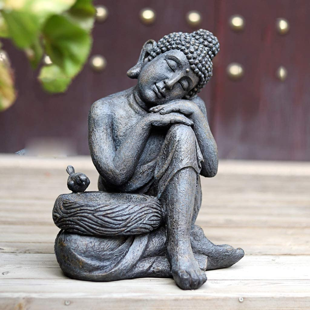 Time sale NYKK Collectibles Mail order cheap and Figurines Zen Decoration Courtyard Garden
