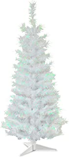 National Tree 3 Foot White Iridescent Tinsel Tree with Plastic Stand (TT33-713-30-1)
