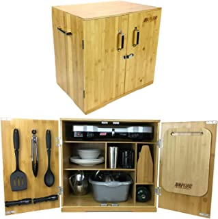Ultimate Chuck Box Camping Kitchen - Includes Luxury Outdoor Cooking and Dining Essentials, Organized in Custom Portable Camp Kitchen Cabinet - Easy Car Camping, Touring, Family Days Out, Tailgating