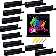 Jetec 12 Pieces Vinyl Record Shelf Wall Record Frame Display Shelf Acrylic Wall Shelf for Records Collection and Decoratio...