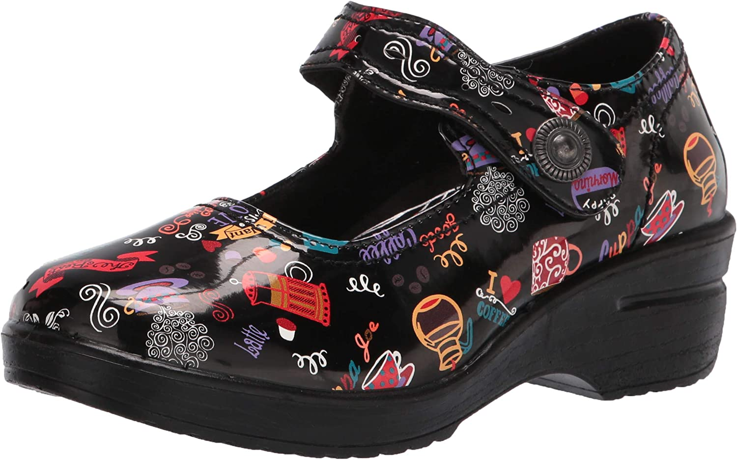 Detroit Mall Easy Works womens Letsee Overseas parallel import regular item Clog Black 9.5 Hot Coffee Patent