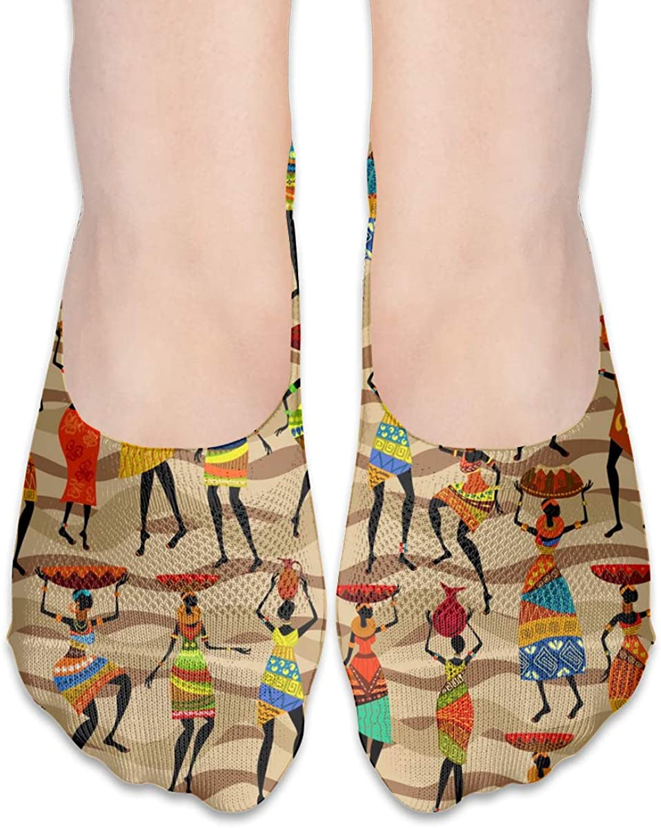No Show Socks Women Men For African Women Brown Stripe Flats Cotton Ultra Low Cut Liner Socks Non Slip