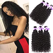 Aatifa 9A Brazilian Virgin Hair Water Wave 3 Bundles (10 12 14) 100% Unprocessed Natural Color Can Be Dyed and Bleached