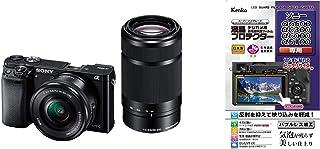 ソニー SONY ミラーレス一眼 α6000 ダブルズームレンズキット E PZ 16-50mm F3.5-5.6 OSS + E 55-210mm F4.5-6.3 OSS ブラック ILCE-6000Y B + 専用液晶保護フィルムセット