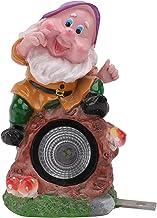 Lurrose Solar Luzes de Rock Estátua Gnome Elf Estatueta Decorativa Da Paisagem Ao Ar Livre Led Spotlight Luzes De Pedra pa...
