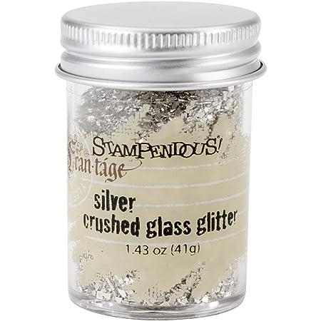 Stampendous Glass Glitter 1.43 oz-Silver