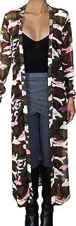 Plus Size Women Camo Pink Sheer Mesh Kimono Long Duster Cardigan USA