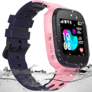 SZBXD Kids Waterproof Smart Watch - Boys & Girls Smartwatch Phone with Camera Games Touch Screen SOS Call Voice Chatting Christmas Birthday Gift (Pink)
