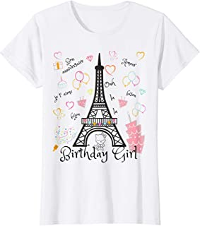 Paris Eiffel Tower Birthday Girl T-Shirt
