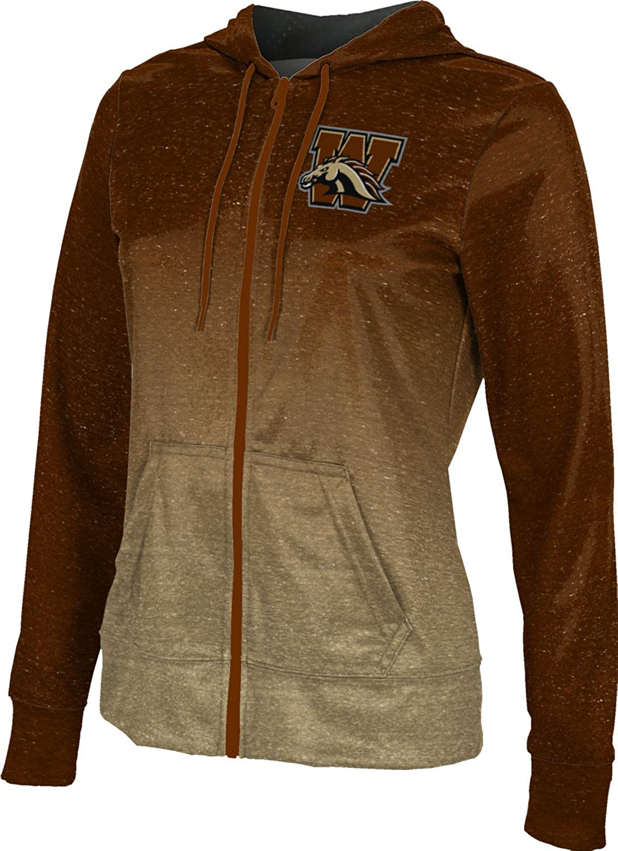 ProSphere Western Michigan University Girls' Zipper Hoodie, School Spirit Sweatshirt (Ombre)
