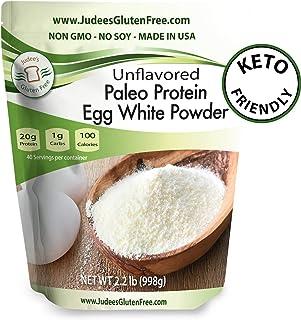 Judee's Egg White Protein Powder (2.2 lbs) Keto, Non GMO, Dairy Free, Soy Free. 20g Protein Per Serving. Smoothies, Baking...