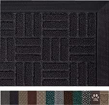 Gorilla Grip Original Durable Rubber Door Mat, 35 x 23, Heavy Duty Doormat for Indoor Outdoor, Waterproof, Easy Clean, Low-Profile Rug Mats for Entry, Patio, High Traffic Areas, Black Maze