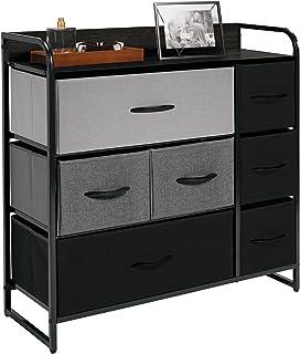 mDesign commode à 7 tiroirs – meuble à tiroirs pour la chambre à coucher, le salon ou le couloir – rangement vêtements lar...
