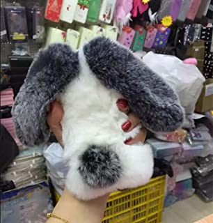 Jesiya for iPhone 6/6s Fur Case for Girls, Luxury Cute Toy Warm Handmade Rabbit Bunny Furry Fuzzy Soft Rabbit Fur Hair Plush Case Cover for iPhone 6/6s 4.7