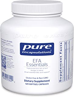 Pure Encapsulations - EFA Essentials - Triglyceride-Form Fish Oil and Borage Oil Blend - 120 Softgel Capsules