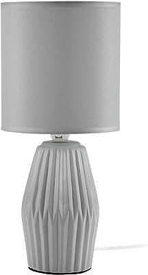 Mathias 3412007 lámpara Aki, cerámica/ABJ poliéster, E14, 230 W, gris