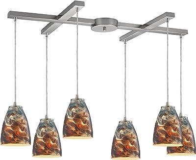 Elk Lighting 10460/6CS Pendant Light, Satin Nickel