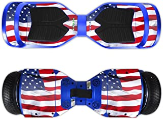 MightySkins Skin Compatible with Swagtron T3 Hover Board Self Balancing Smart Scooter wrap Cover Sticker Skins American Flag