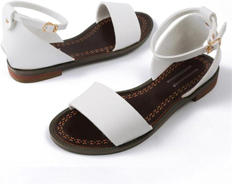 Nerefy Women Sandals Flats Gladiator Pu Leather Beach Heels Summer shoes Flat shoes Footwear Size 33-46