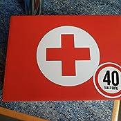 40 Geburtstag Erste Hilfe Set Geschenk Box Witziger Sanikasten 8 Teilig Spassgeschenk Zum 40 Geburtstag Amazon De Lebensmittel Getranke