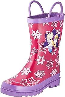 Frozen Girls Anna and Elsa Pink Rain Boots - Different Sizes