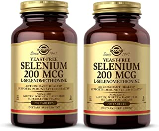 Solgar Yeast-Free Selenium 200 mcg, 250 Tablets - Pack of 2 - Supports Antioxidant & Immune System Health - Non-GMO, Vegan...