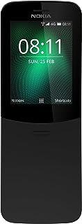 Nokia 8110 - Telefono Cellulare 4G, schermo da 2,4 pollici, ROM da 32 GB, fotocamera 2 MP, Dual SIM, Nero