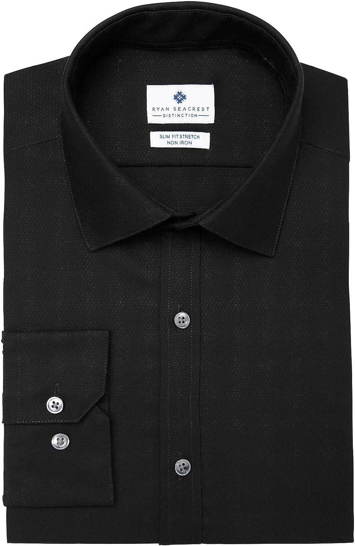 Ryan Seacrest Distinction Men's Ultimate Slim Fit Non Iron Stretch Dress Shirt